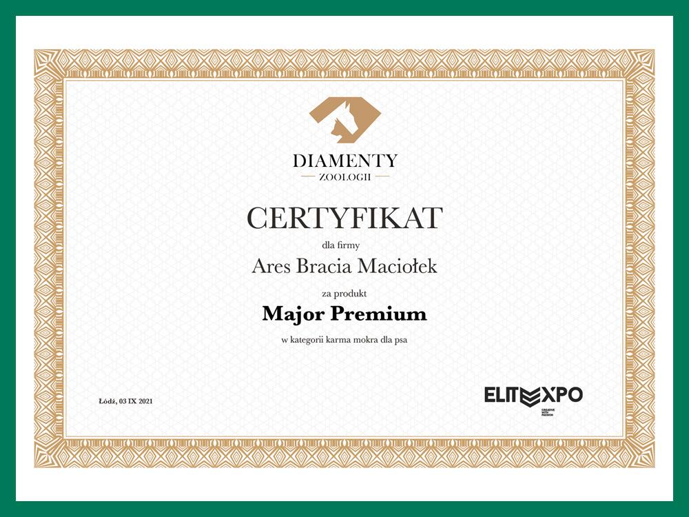 Certyfikat Diamenty Zoologii